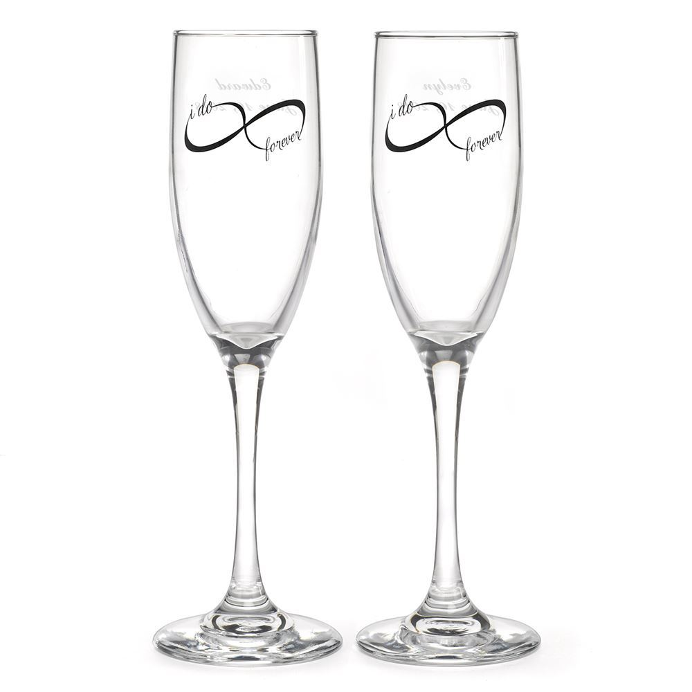 Infinity Toasting Flutes | Invitations By Dawn