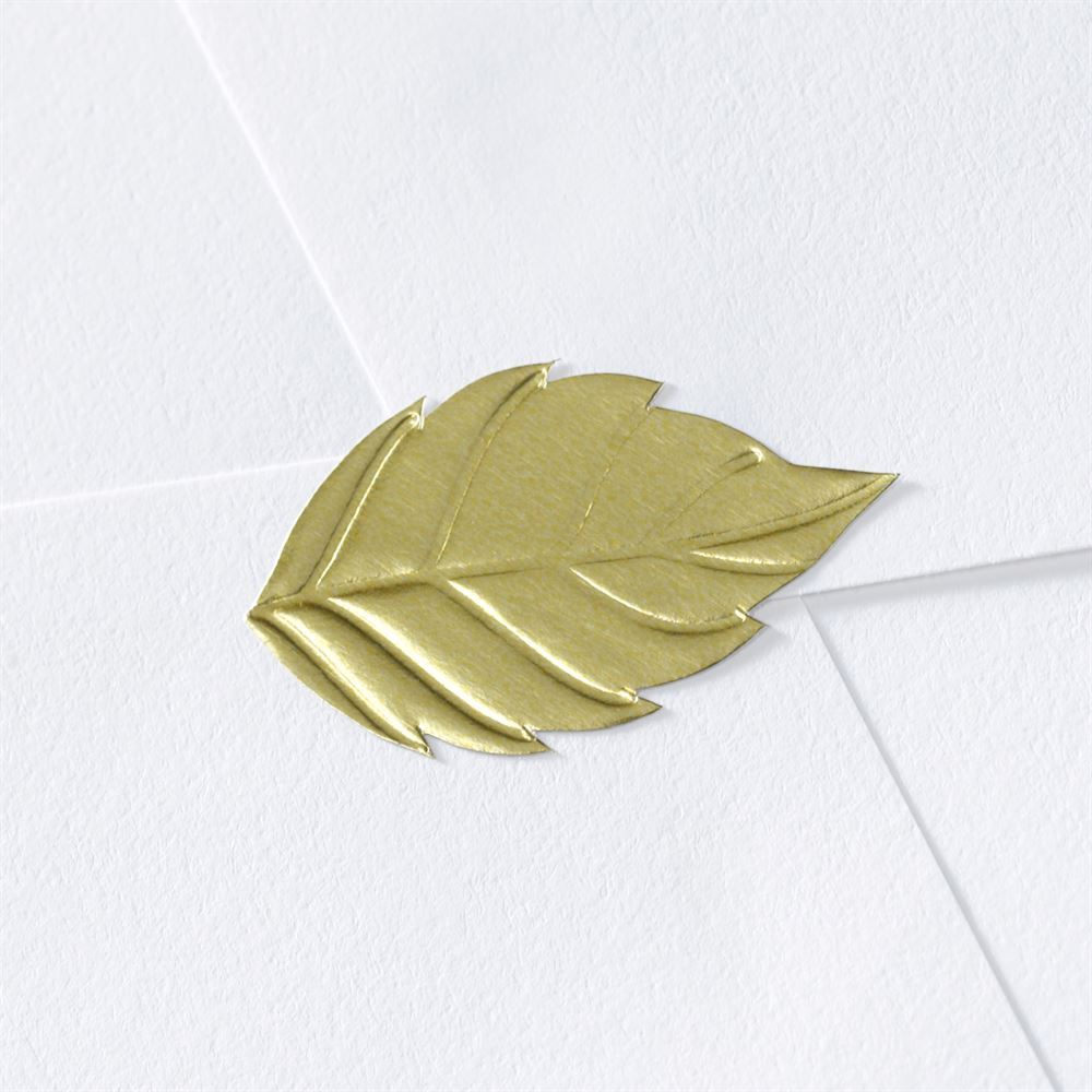 Blank Leaf Wedding Seal | Invitations By Dawn