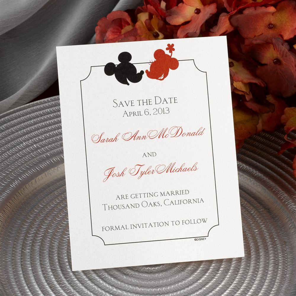 disney oh  boy  save the date card mickey mouse