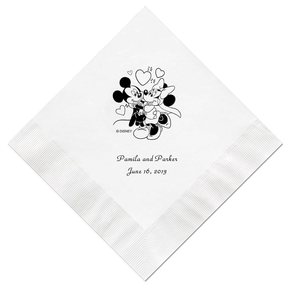A Classic Disney Beverage Napkin In Foil Invitations By Dawn