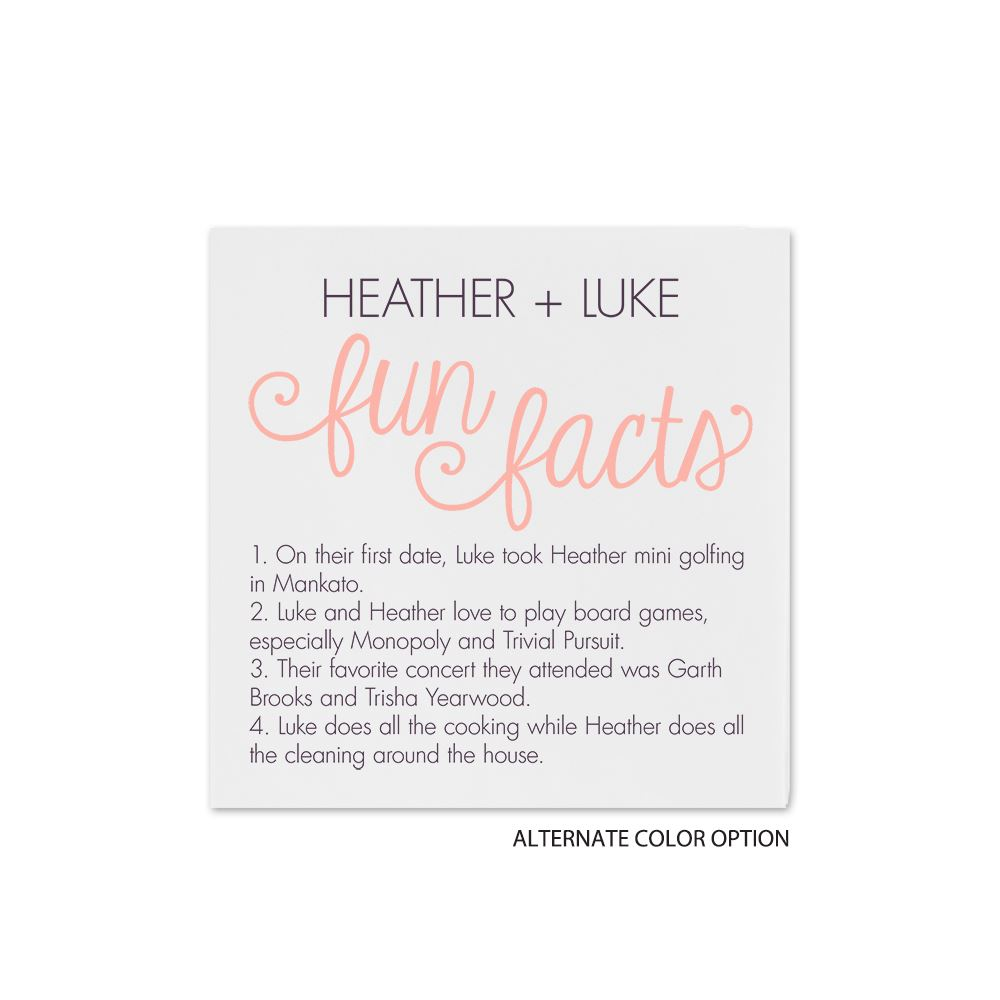 Fun Facts Cocktail Napkin Invitations By Dawn