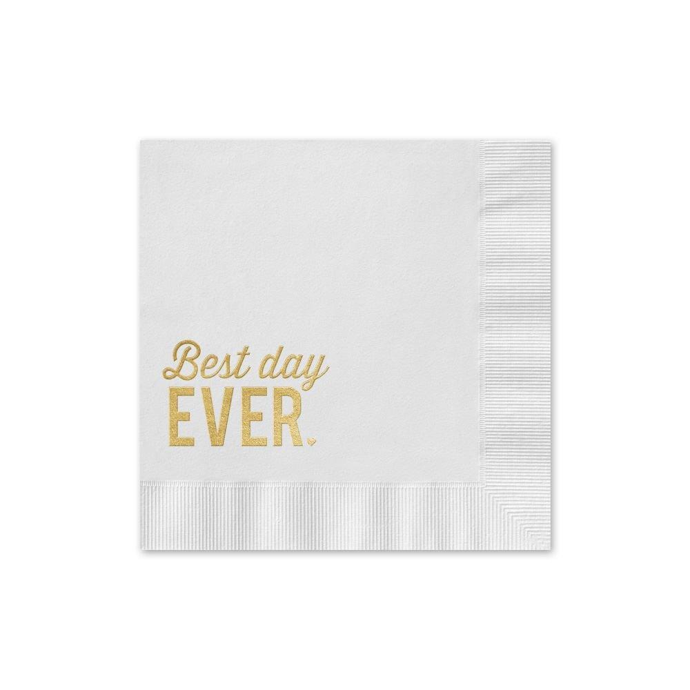 best day ever foil cocktail napkin