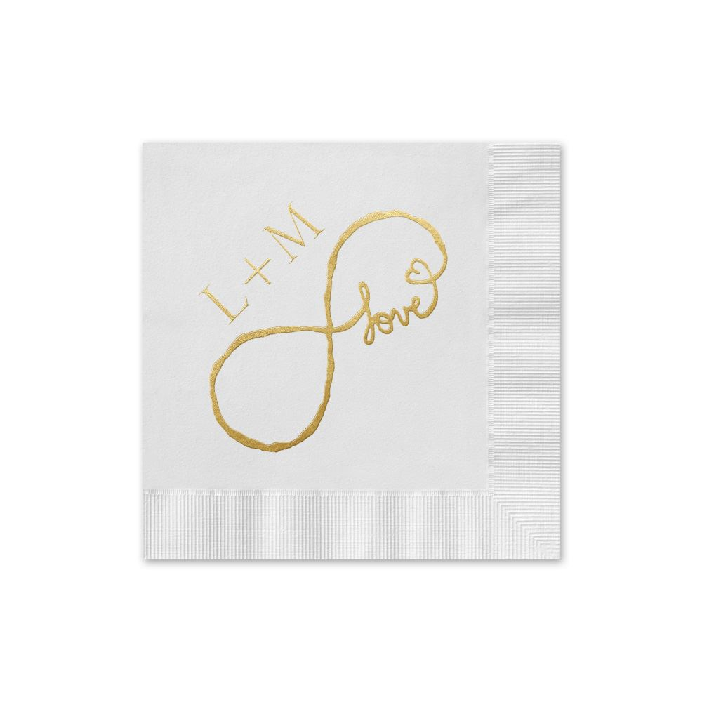 Love for Infinity Foil Cocktail Napkin | Invitations By Dawn