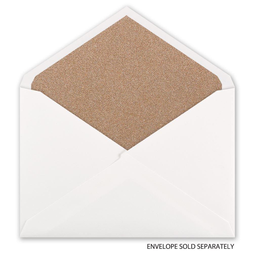 Rose Gold Glitter Envelope Liner | Invitations By Dawn