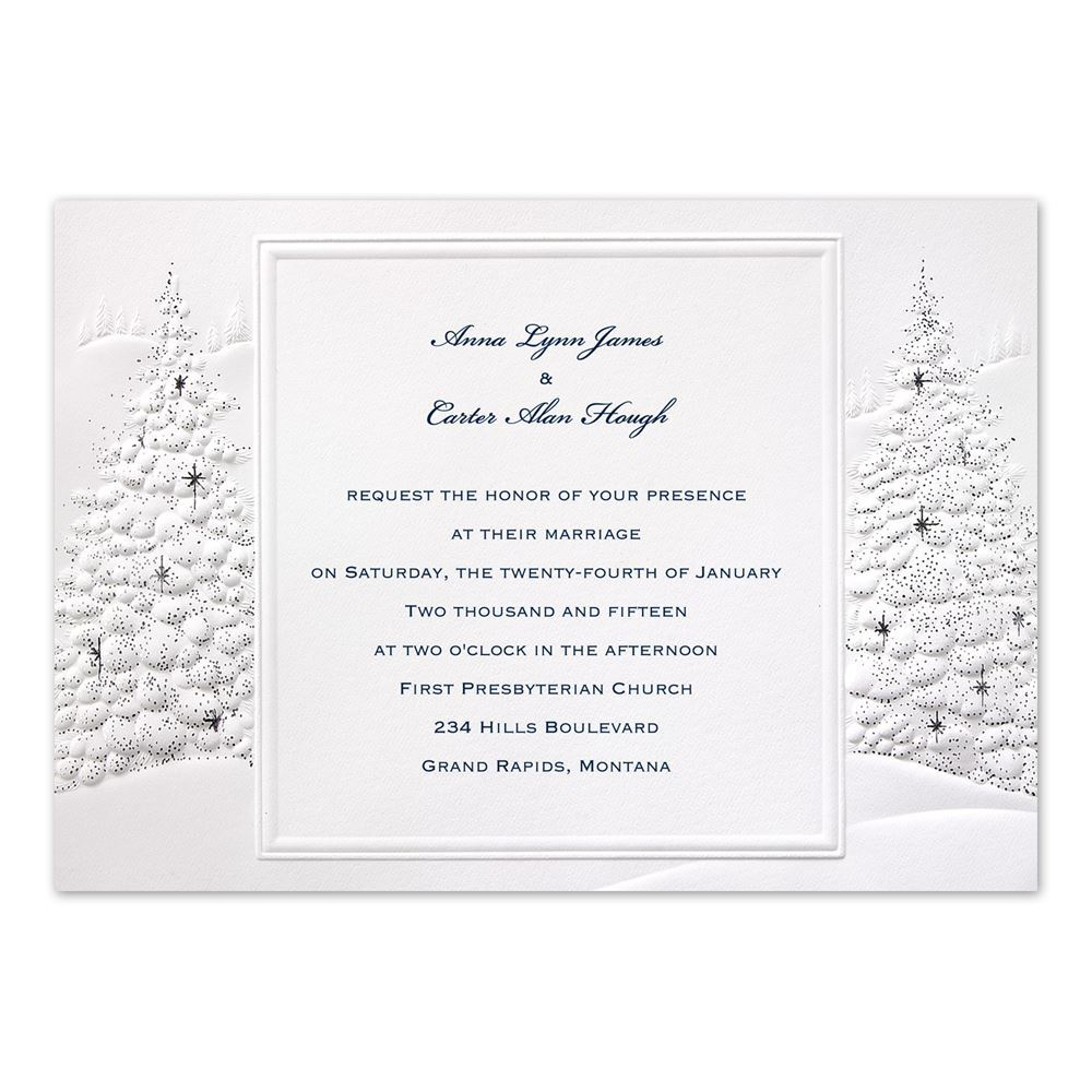 Wedding And Reception Invitations: Wedding Wonderland Invitation